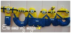 Felt Minnions Name Banner 5 letters Baby's Room by mywonderfelt