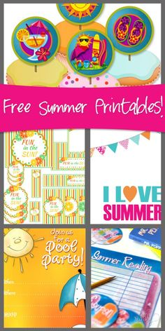 Happy day...7 Super Summer Printables for FREE! howdoesshe.com #summerprintables #printables