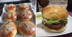 A hamburger zsemle receptje, el se tudom mondani, mekkora sikere lett! Hamburger, Food And Drink, Pizza, Bread, Baking, Brot, Bakken, Burgers, Breads
