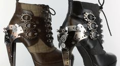 Steampunk Clothing Women Sexy steampunk boots for women