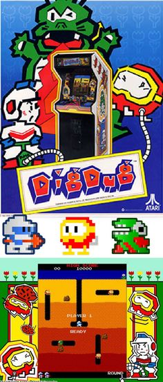 #RetroGamer #Arcade classic #DigDug surprising still has some fun left in the game! http://www.levelgamingground.com/dig-dug-review.html