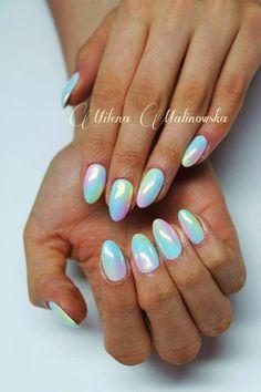 by Indigo Educator Milena Malinowska ! Double Tap if you like #mani #nailart #nails #mermaid Find more Inspiration at www.indigo-nails.com