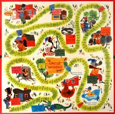 Vintage Uncle Wiggly Game - we used to play this at my Grandma's house