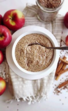 Apple and Flax Seed Porridge- awesome breakfast solution! #grainfree #paleo