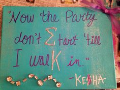 Sigma Kappa Kesha themed canvas! :)