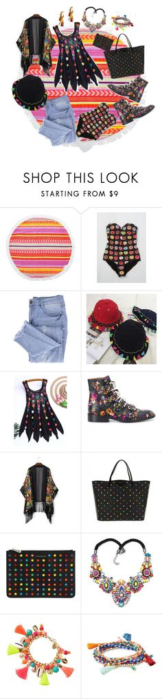 """""""she's so fabulous! how does she find all those perfect pieces?"""" by caroline-buster-brown ❤ liked on Polyvore featuring Sunnylife, High Dive by ModCloth, Essie, Givenchy, Lilly Pulitzer, Design Lab and Rosantica"""