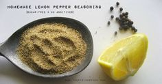 Homemade Lemon Pepper Seasoning: Fresh ground black pepper with lemon zest baked to dehydrate @ 170 degrees for about an hour, onion powder, garlic powder and salt