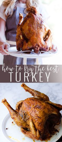 The best fried turkey This step by step tutorial will show you how to fry the best turkey in the world. It's breaks it down for anyone to have a delicious turkey! Best Roasted Turkey, Best Turkey, Turkey Fryer, Frying A Turkey, Deep Fry Turkey, Turkey Marinade, Turkey Injection Marinade, Preparing A Turkey, How To Prepare Turkey