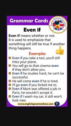 English Speaking Skills, Teaching English Grammar, English Vocabulary Words, English Language Learning, English Phrases, Learn English Words, English Study, English Lessons, English Grammar Rules