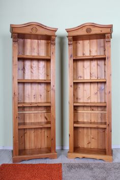 199 2 X Matching Pine Bookcases With Adjule Shelves Please See The Website For