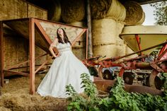 Pixies in the Cellar: Bride and farm machinery, love the juxta!