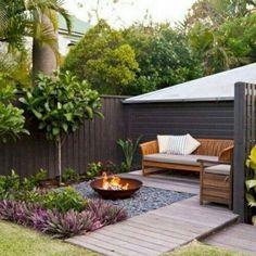 Attractive Small Patio Garden Design Ideas For Your Backyard 42 Small Garden Landscape Design, Small Backyard Design, Backyard Seating, Backyard Patio Designs, Small Backyard Landscaping, Fire Pit Backyard, Diy Patio, Backyard Ideas, Small Patio