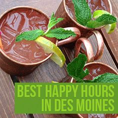 Why limit happy to an hour? Many local restaurants in Des Moines extendexcellent happy hour specials, which include food and drink offers. Here are 13 of my favorite places to grab a happy hour drink! #desmoines #happyhour