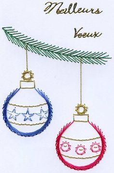 Cross Stitch Christmas Cards, Diy Christmas Cards, Xmas Cards, String Art Diy, String Crafts, Embroidered Paper, Stitching On Paper, Zipper Crafts, Alcohol Ink Crafts