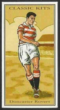 Classic Kits card - Doncaster Rovers in the 1950s.