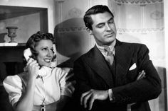 Cary Grant and Irene Dunne in The Awful Truth, 1937 Harold Lloyd, Loretta Young, Mae West, Carole Lombard, Marlene Dietrich, Cary Grant, Classic Hollywood, Old Hollywood, Make Way For Tomorrow