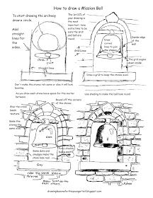 How to Draw Worksheets for The Young Artist: Printable How To Draw A Mission Bell Drawing Worksheet