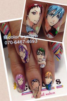黒子のバスケ(The Basketball Which Kuroko Plays) : Character nail art