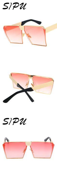 5d65632c59d5 SIPU Oversized Square Sunglasses Women Brand Designer Vintage Sunglasses  Mirror Sun Glasses Men Oculos De Sol