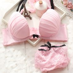 2013 w cup luxurious fashion bra set charming pink paded underwear set-inBra & Brief Sets from Apparel & Accessories on Aliexpress.com