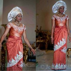 Image result for bride nigerian wedding dress urhobo