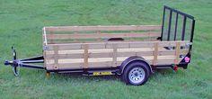 Single Axle Trailer Wood Sides