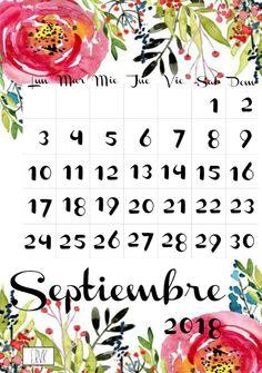 Ya tenéis disponible mi Calendario *Floral* imprimible para el año 2018.