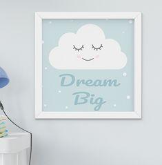Sonho Grande Pequenino citar Berçário Branco Bebê Quarto Adesivo De Parede Decoração