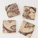 Vintage Map Coasters, Set of 4 | World Market  #WorldMarket Contest