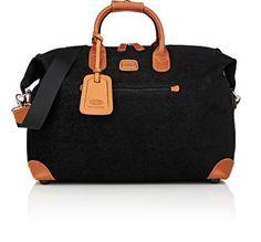 "BRIC'S LIFE 18"" DUFFEL BAG - BLACK. #brics #bags #shoulder bags #hand bags #canvas #pvc #suede"
