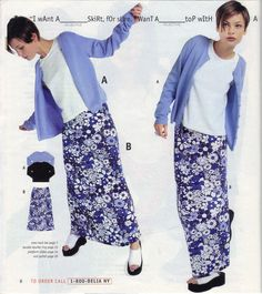 I totally remember this catalog, and liking this outfit! 1998 was a rough looking year!