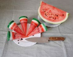 Items similar to Watermelon Candle - Fake Fruit Candle - Party Kids Birthday Candle - Funny Scented Watermelon Candle - Tropical Candle - Hygge Home Decor on Etsy Helado Natural, Tropical Candles, Funny Candles, Watermelon Slices, Shark Watermelon, Funny Birthday Gifts, Summer Fruit, Unique Recipes, Candle Making