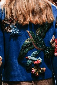 Single-Breasted Tweed Jacket with Sega Embroidery - Gucci Jacket - Ideas of Gucci Jacket - Gucci Gucci Embroideries Ideas of Gucci Embroideries Gucci Couture Embroidery, Embroidery Fashion, Beaded Embroidery, Couture Details, Fashion Details, Textiles, Lesage, Beautiful Outfits, Knitwear