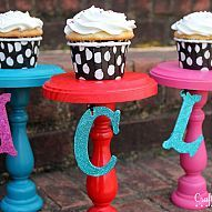Personalized DIY Cupcake Stand