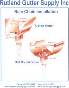 rain chain copper gutter installer - Google Search