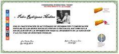TESORO. Pedro Rodriguez Medina.  Activismo social