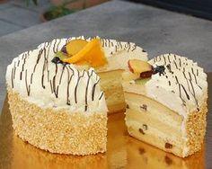oroszkrem_torta_uj Sweet Life, Macarons, Vanilla Cake, Fudge, Cake Recipes, Cheesecake, Food And Drink, Sweets, Snacks