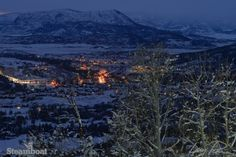 Steamboat at night. (Photo by Larry Pierce, Dec. 10, 2013)