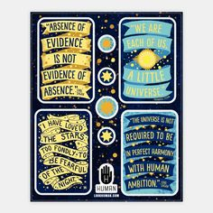 Inspiring Science Quote... | Stickers, Sticker Sheets and Vinyl Stickers | HUMAN
