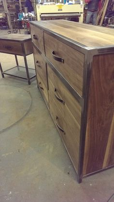 shot of drawer pulls made by Metal Fred Designs in Nashville