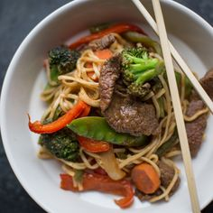 Healthy, simple meal ideas: Beef Noodle Stir-Fry #shopmeals #relayfoods
