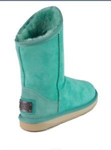 Australia Luxe Collective Turquoise Sheepskin Boot Cosy Short Size 8 | eBay