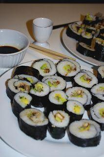 Bei Juli gab es abends selbstgemachte Sushi.
