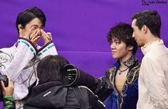 He's very happy and crying Sendai, Miyagi, Nathan Chen, Javier Fernandez, Japanese Figure Skater, Shoma Uno, 2018 Winter Olympics, Ice Skaters, Ice Ice Baby