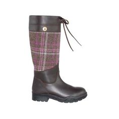 Iona Tweed And Leather Waterproof Outdoor Boot - Chocolate With Mocha & Grape, Tayberry £110