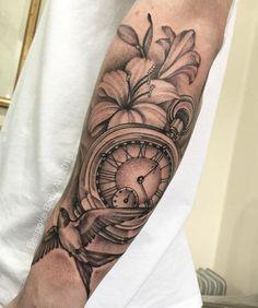 Addition to Matt's arm. #pocketwatchtattoo #swaĺlowtattoo #lilytattoo #tattoo #studio #bespokebodyart #customtattoo #grimsby #cleethorpes #lincolnshire #tattooist #tattooer #tattooartist #tattoostudio #tattoodesigns #uktattoos #tattooinspiration #grimsbytattoos #cleethorpestattoo #sleevetattoo