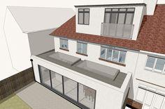 Method Studio - Architects in Essex & London 1930s House Extension, House Extension Plans, House Extension Design, Roof Extension, Extension Ideas, Loft Conversion Bedroom, Dormer Loft Conversion, Loft Conversions, Loft Design