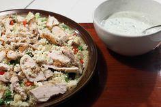 Griekse kip en couscous salade