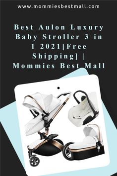 Buy Aulon 3 in 1 Baby Stroller at Mommies Best Mall perfect for newborn up to 3 years.