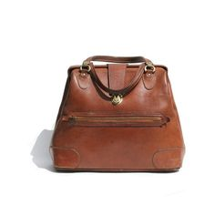 2b73fbb12d05 vintage brown leather weekend bag by myfavoritevintage on Etsy Brown  Leather Handbags